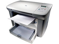 МФУ HP LaserJet M1005 MFP (принтер/сканер/копир, A4, 600*600dpi, 14 ppm, 32Mb, tray 150+10, USB} (CB376A)