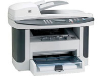 МФУ HP LaserJet M1522N MFP {принтер/сканер/копир, A4, 1200dpi, 23ppm, 64Mb, 2trays 250+10, ADF 50 sheets, USB / LAN} (CC372A)