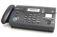 Факс Panasonic KX-FT934RU-B (черный) {термобум., АОН, обрезка, пам.100 ном., автоподатчик 10 л., монитор}